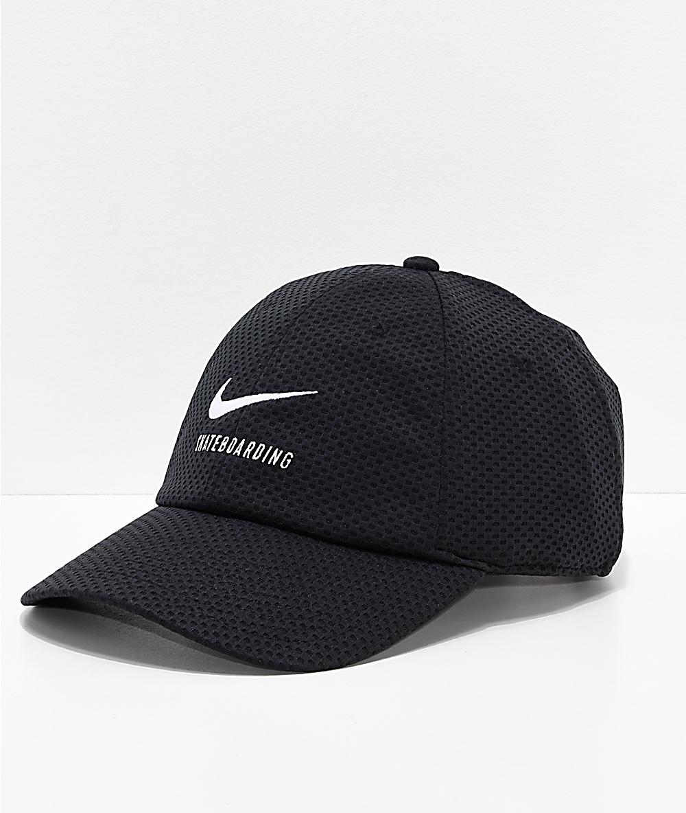 191f4d845 Nike SB Swoosh Black Mesh Strapback Hat