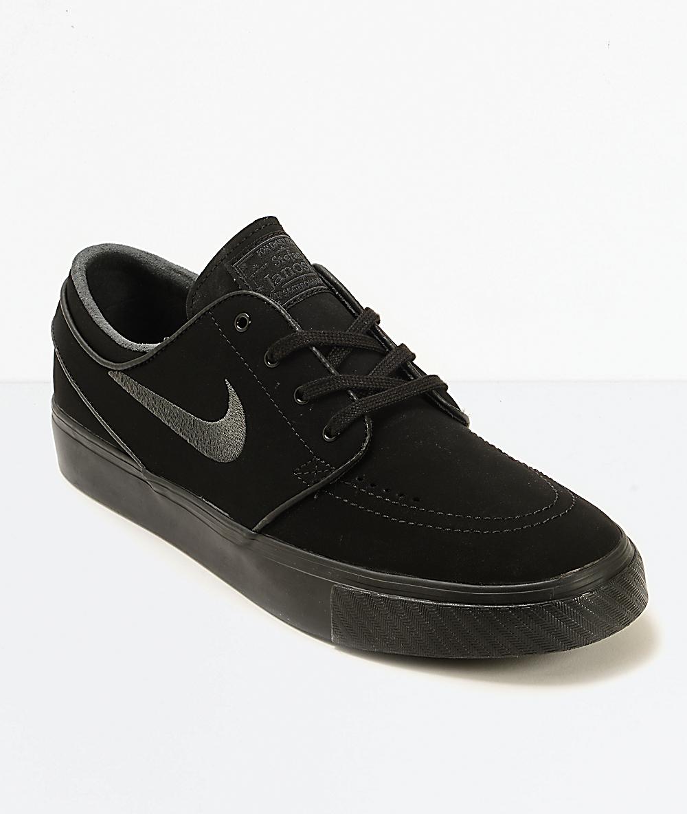 Nike SB Zoom Stefan Janoski Mono Black \u0026 Anthracite Skate Shoes