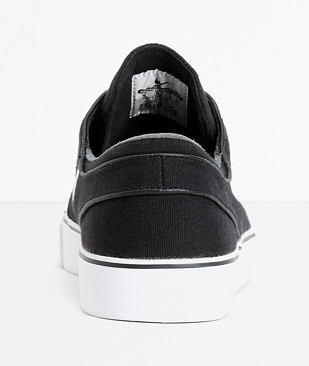 09a537eb Nike SB Zoom Stefan Janoski zapatos de skate de lona en blanco y negro    Zumiez
