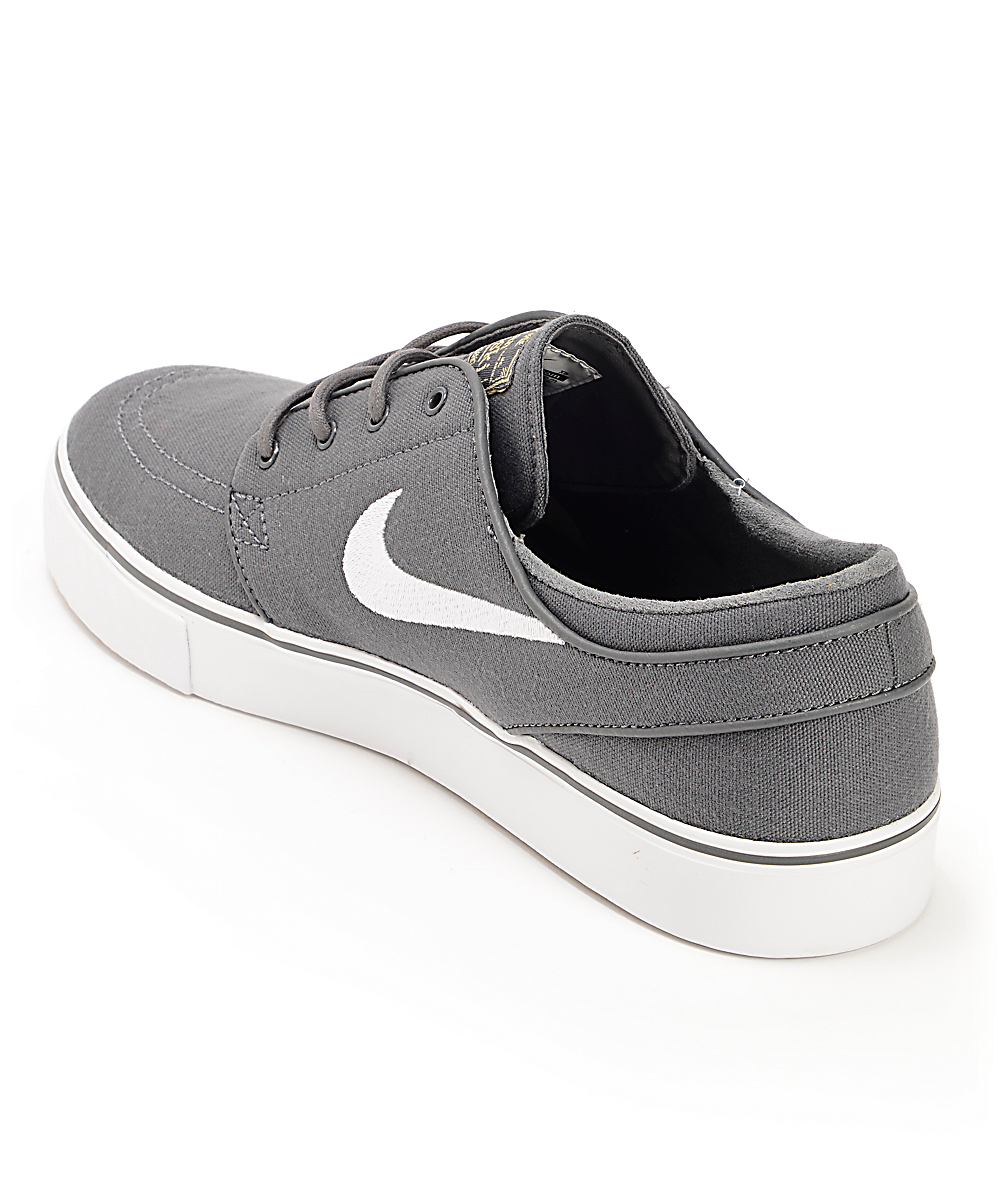 Nike SB Zoom Stefan Janoski zapatos de skate de lona gris, marron y negro