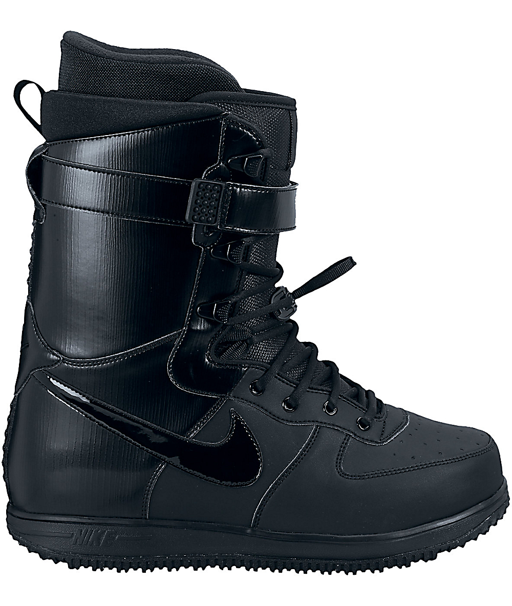 f387a351c1d Nike Zoom Force 1 All Black Snowboard Boots