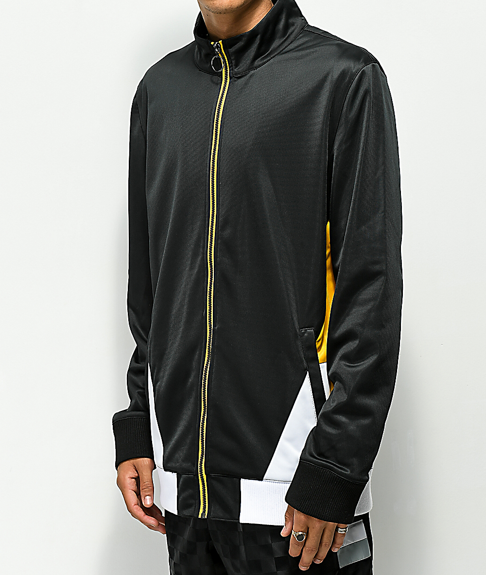 2e9036270 Ninth Hall Geoffry Zip Front Black & Yellow Jacket