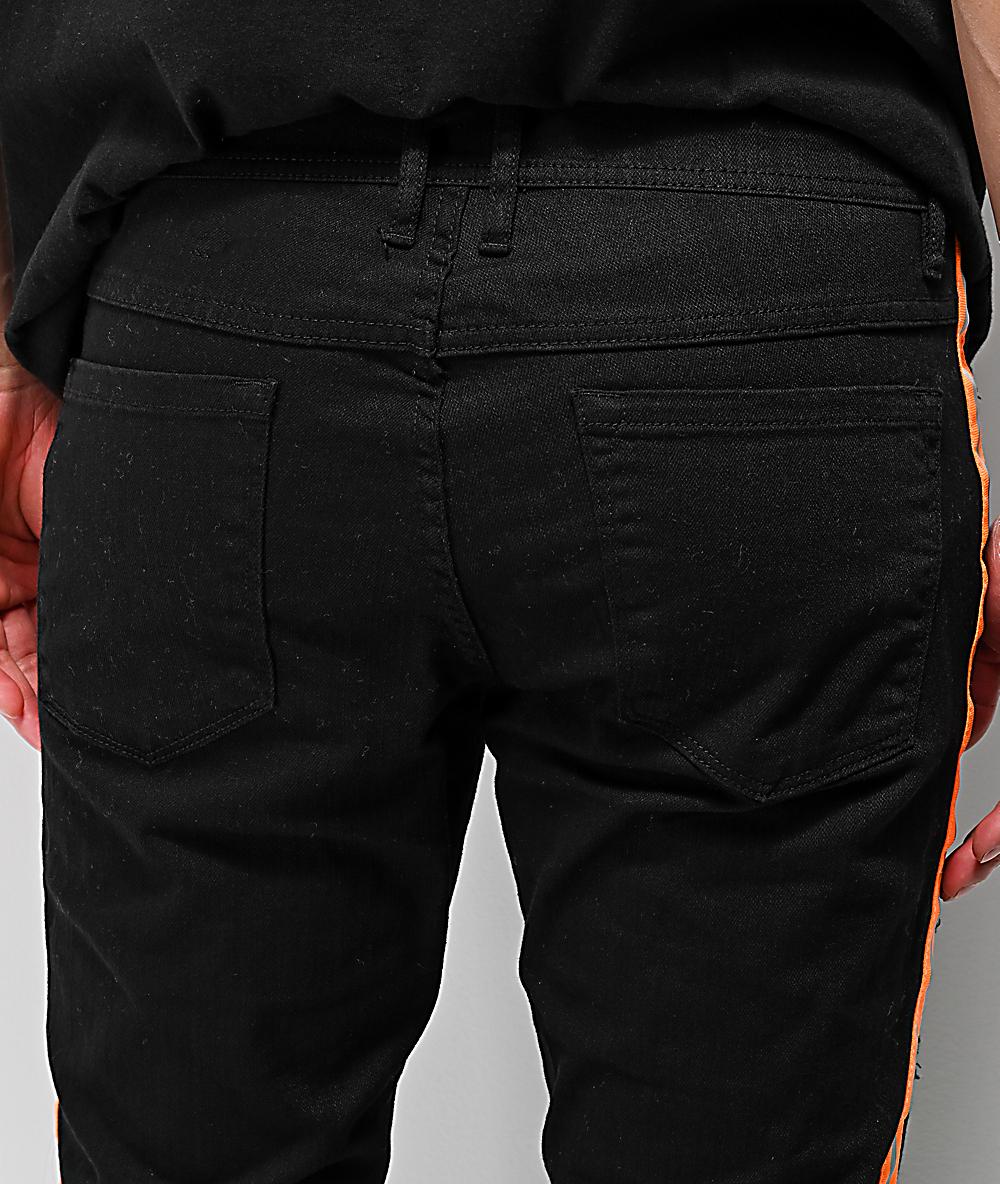 6c27f043623a Ninth Hall Rogue Taped Skinny Black Denim Jeans   Zumiez