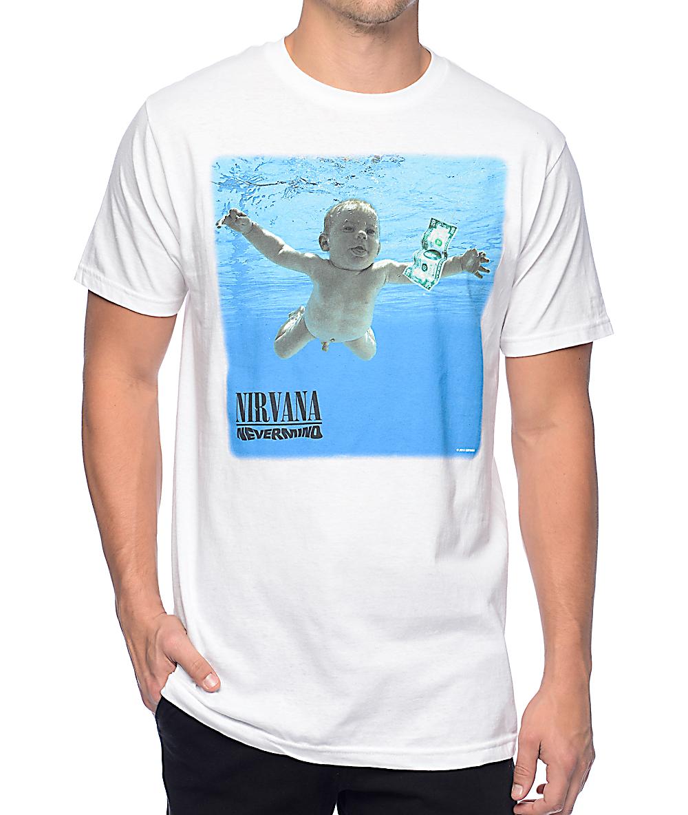 62b977be11f8e Nirvana Nevermind White T-Shirt