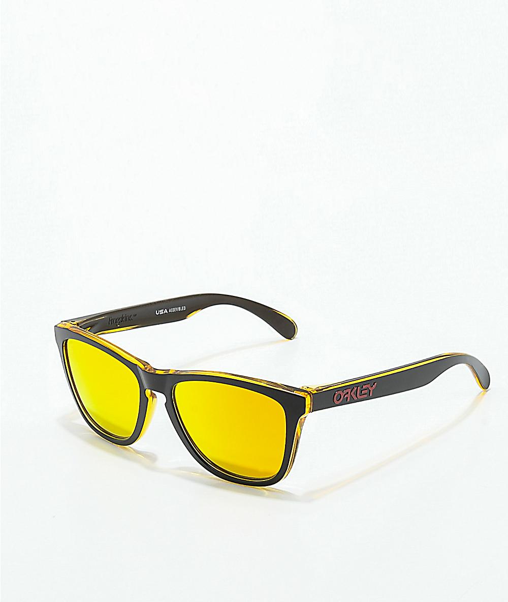 zapatos de separación dda4f 3c387 Oakley Frogskins Grips gafas de sol en negro y amarillo