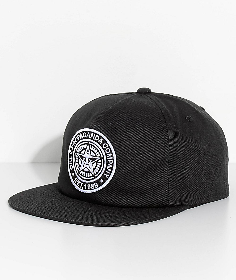 e3166a31957c06 Obey Established 89 II Black Snapback Hat | Zumiez