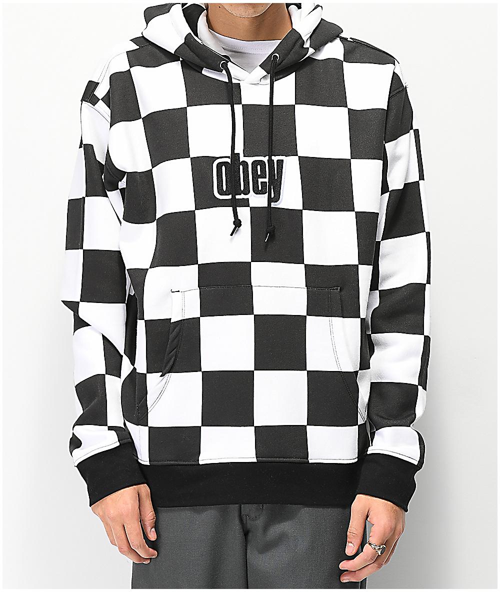 0d9b5688a4e3 Obey Gusto Checker Hoodie | Zumiez
