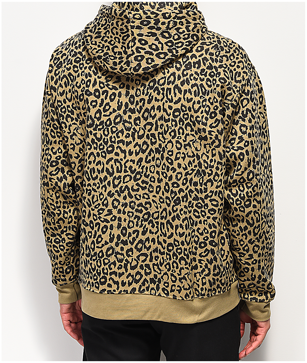 eb3b73e27739 Obey Gusto Leopard Print Hoodie | Zumiez