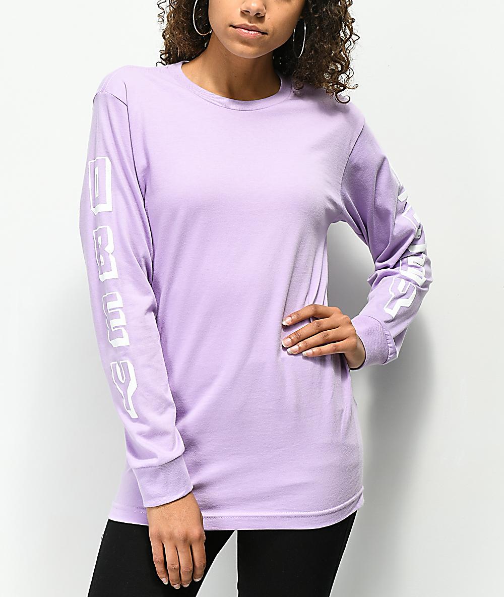 d37f767f8541 Obey New World Lavender Long Sleeve T-Shirt   Zumiez