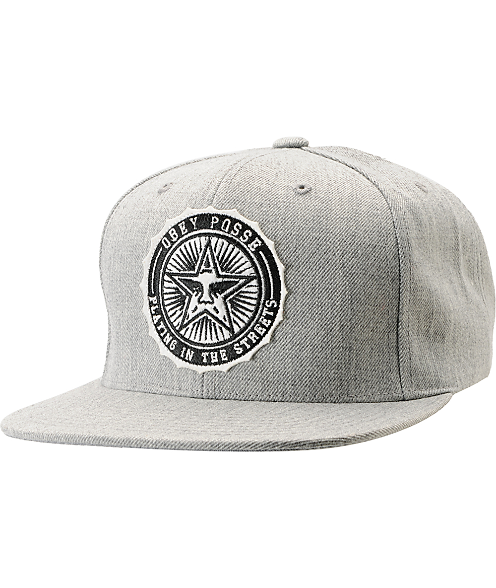 555d105f567606 Obey Pro Bowl Heather Grey Snapback Hat | Zumiez