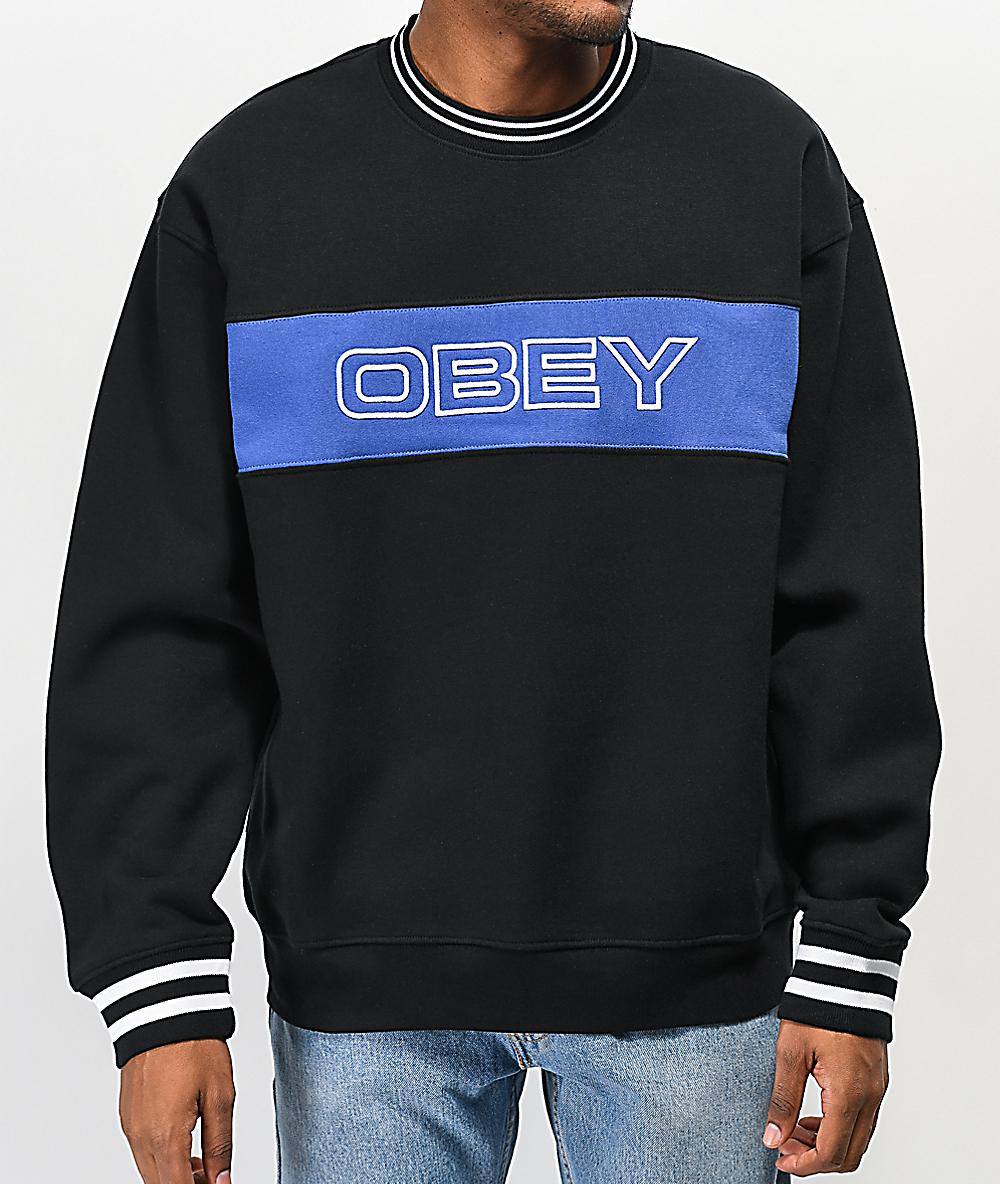 Obey Mens Days Crewneck Fleece