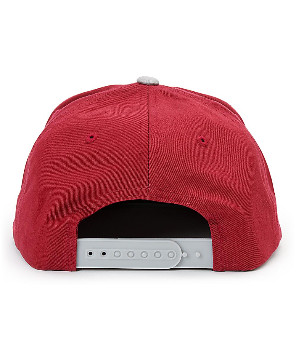 01a07e5af Obey The City Burgundy & Grey Snapback Hat