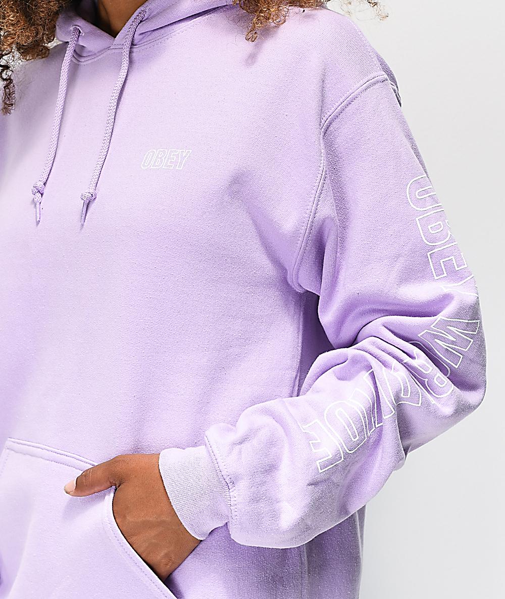 light purple hoodie