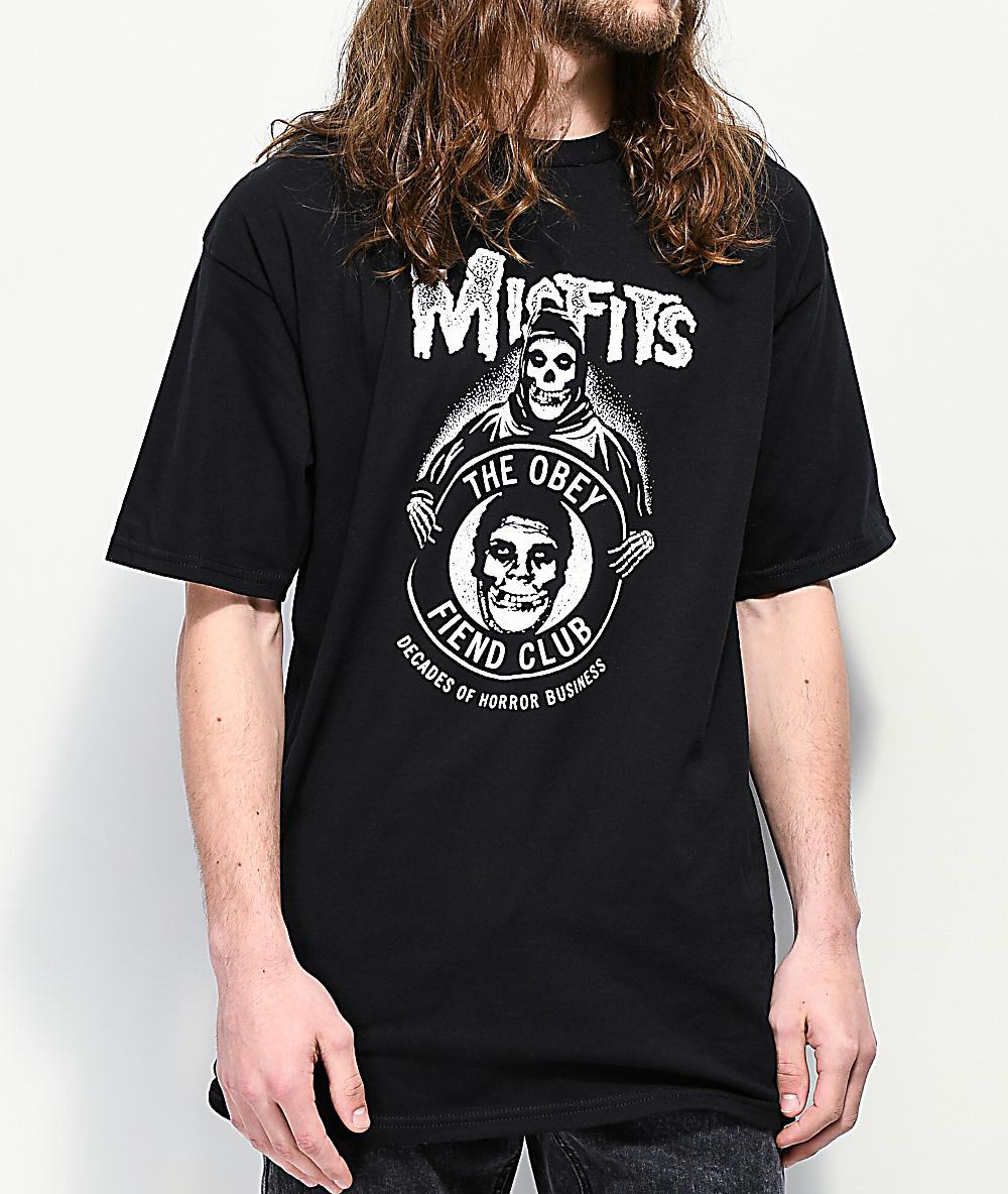 39e90560d1 Obey x Misfits Decades Of Horror Black T-Shirt | Zumiez