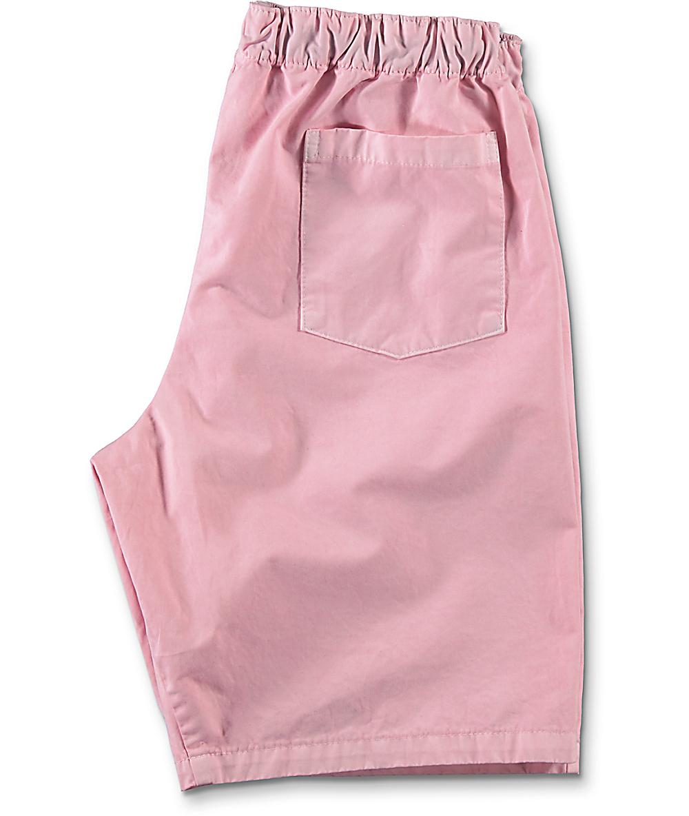 d5138f2278 Odd Future Donut Emblem Pink Pigment Dyed Shorts   Zumiez