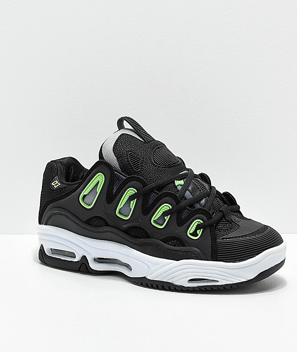 Osiris D3 2001 Black//White//Green