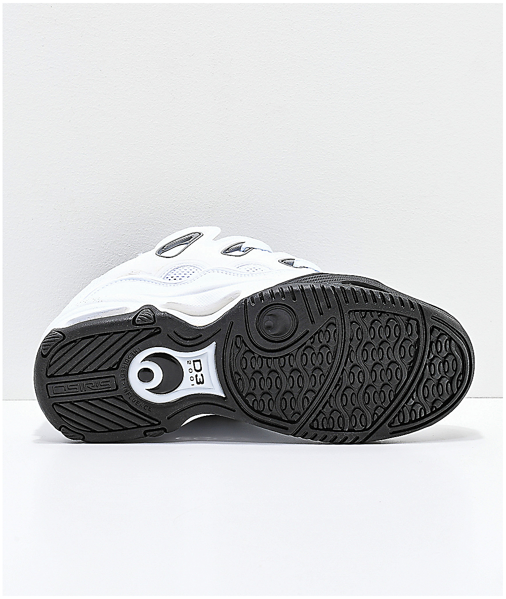 fc797b5f785c97 Osiris D3 2001 White, Grey & Black Skate Shoes | Zumiez