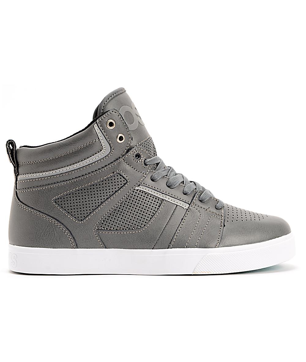 429b1a1c7e6ca Osiris Raider Charcoal, Silver & White Skate Shoes