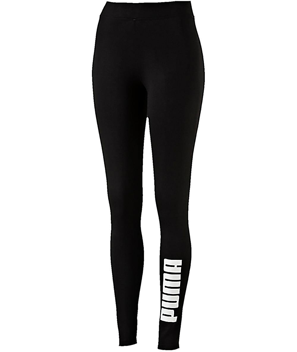 0f151d70dcd8ce PUMA Archive Logo T7 Black Leggings | Zumiez