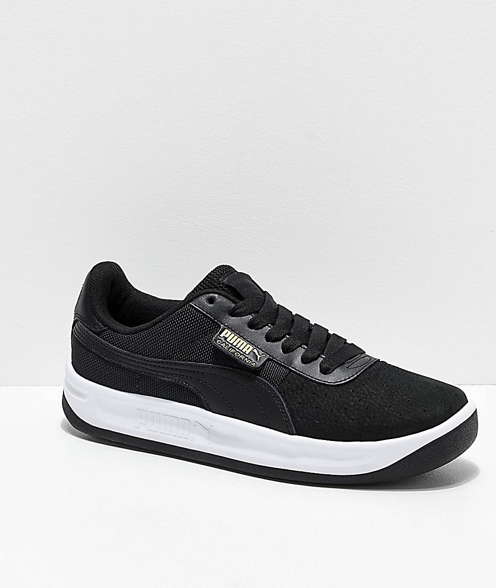 PUMA California zapatos negros y blancos