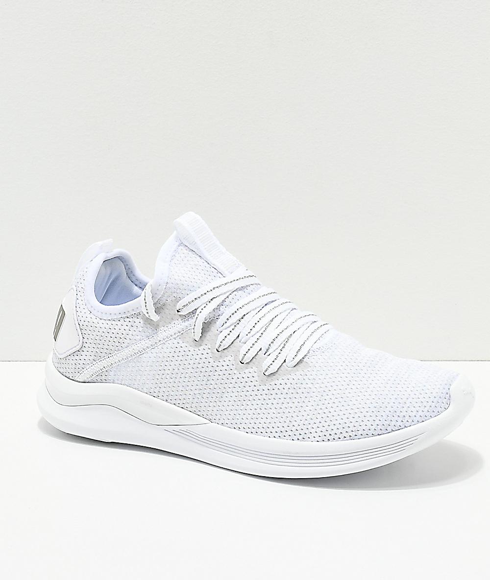 Evoknit Puma Flash Shoes Greyamp; White Ignite PiukOXZ