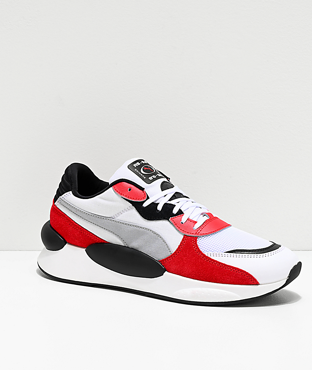 PUMA Space !RS 9.8 White & Red Shoes