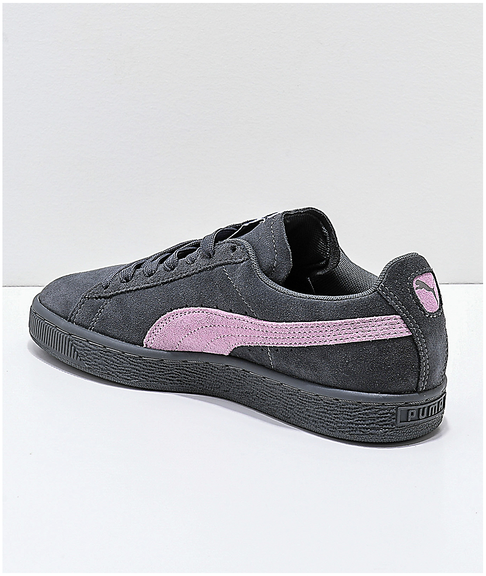 more photos f2987 6ecba PUMA Suede Classic+ Iron Gate & Orchid Pink Shoes