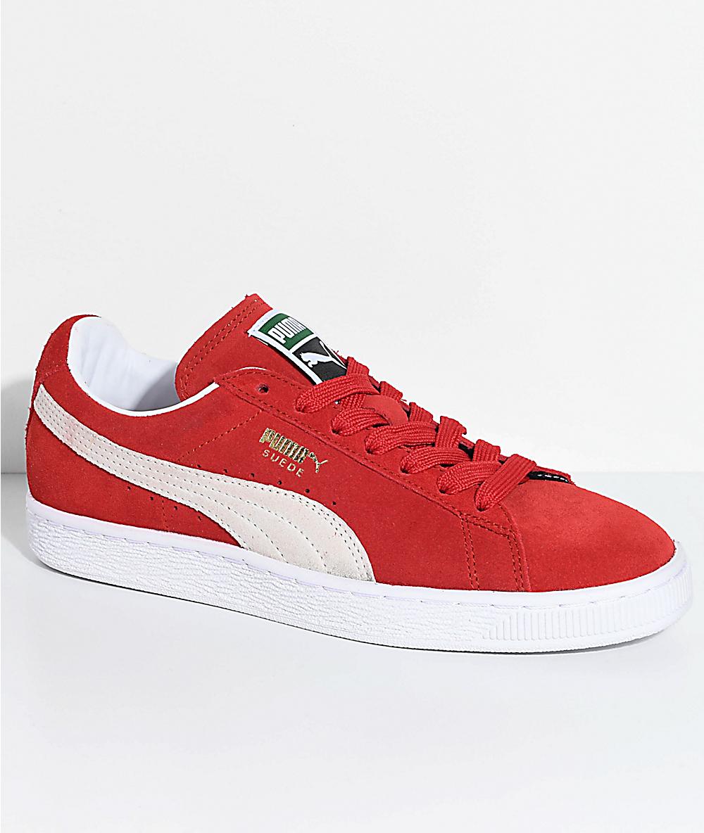 ClassicHigh White Puma Risk Shoes Redamp; Suede LSR4A53qcj