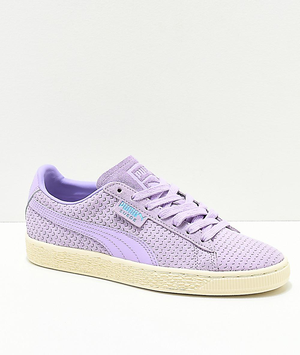 aeeba979bc86 PUMA Suede Purple Rose & White Shoes | Zumiez