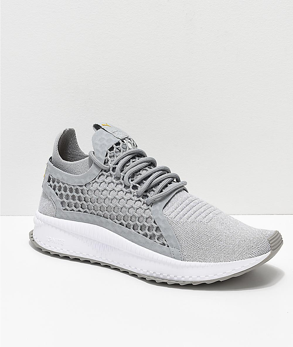 0e59b6db73a PUMA Tsugi Netfit V2 Evoknit Grey & White Shoes