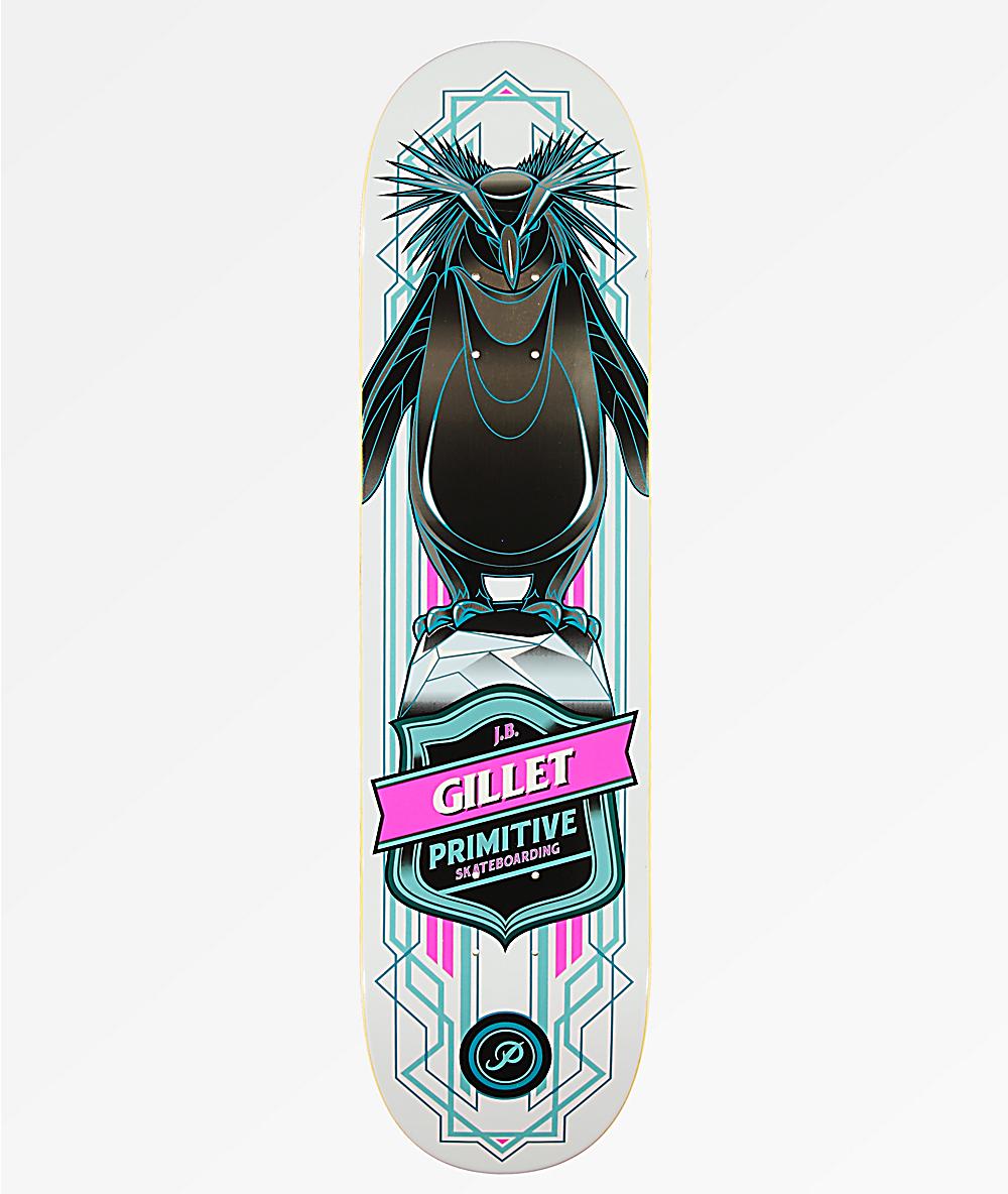 """Primitive Skateboards JB Gillet Penguin Skateboard Deck 8/"""""""