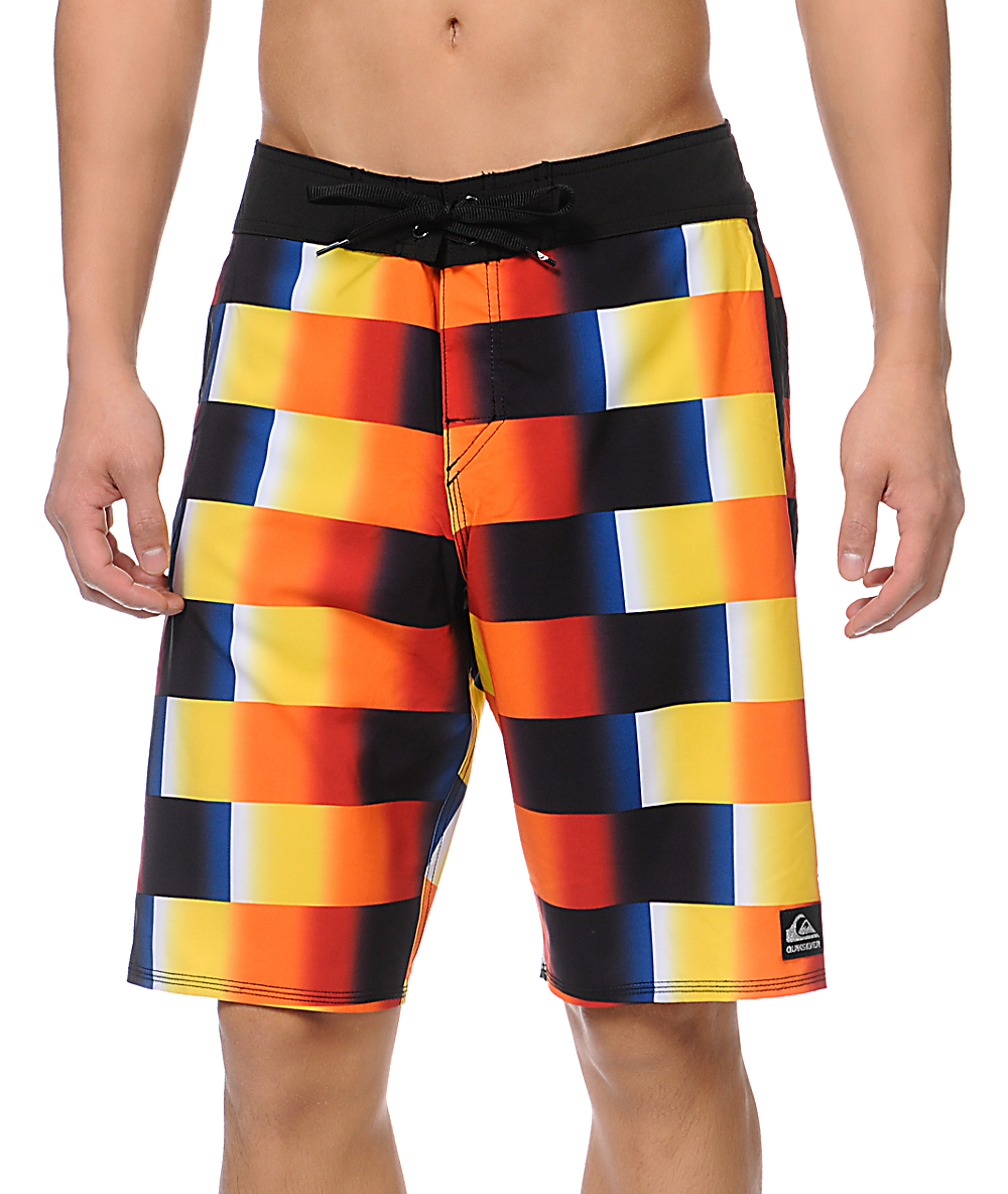 b5f65c1a3d Quiksilver Red Rad Yellow, Red & Black 21 Board Shorts