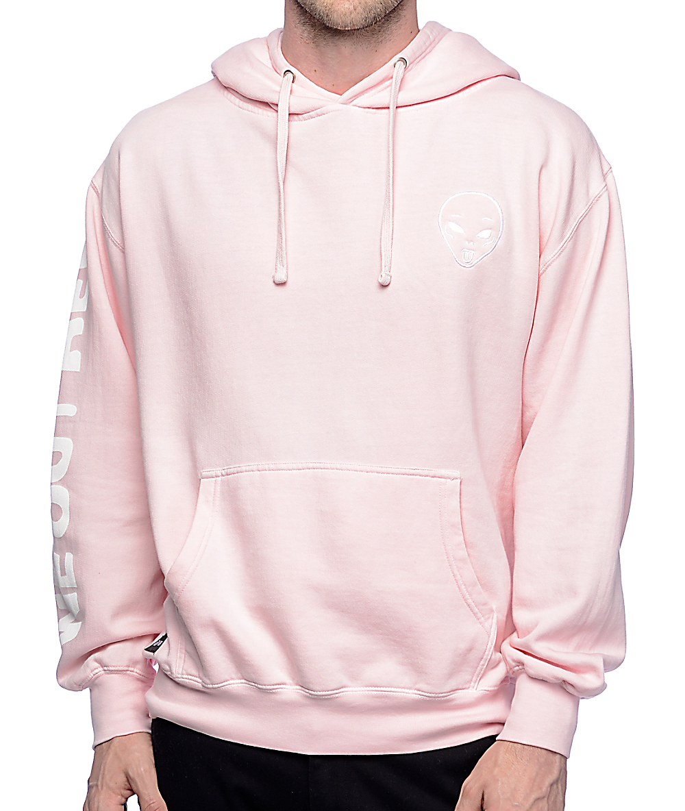 f9cd6945c9e RIPNDIP Get Outer Here Light Pink Hoodie | Zumiez