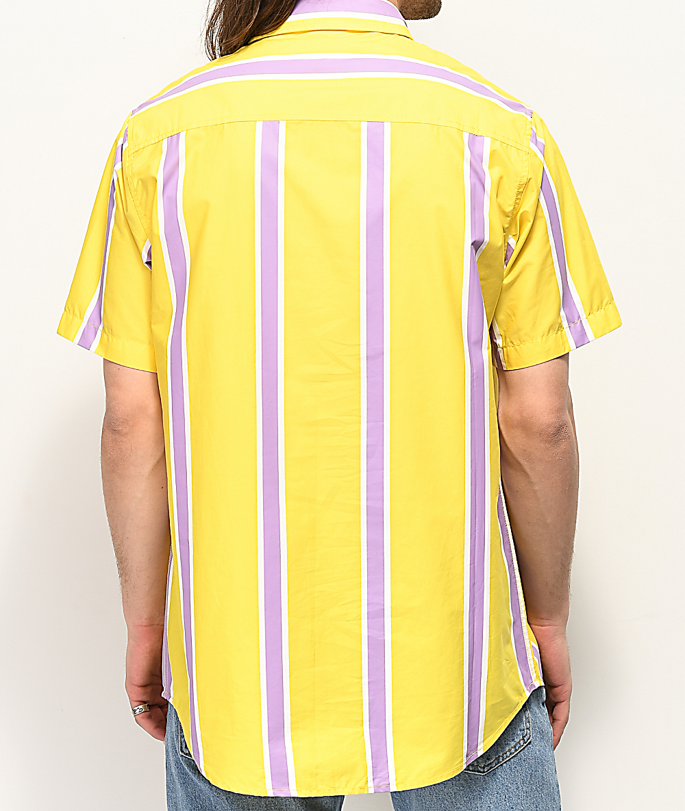 c6d8ce428497b4 RIPNDIP Peek A Nermal Yellow Short Sleeve Button Up Shirt | Zumiez