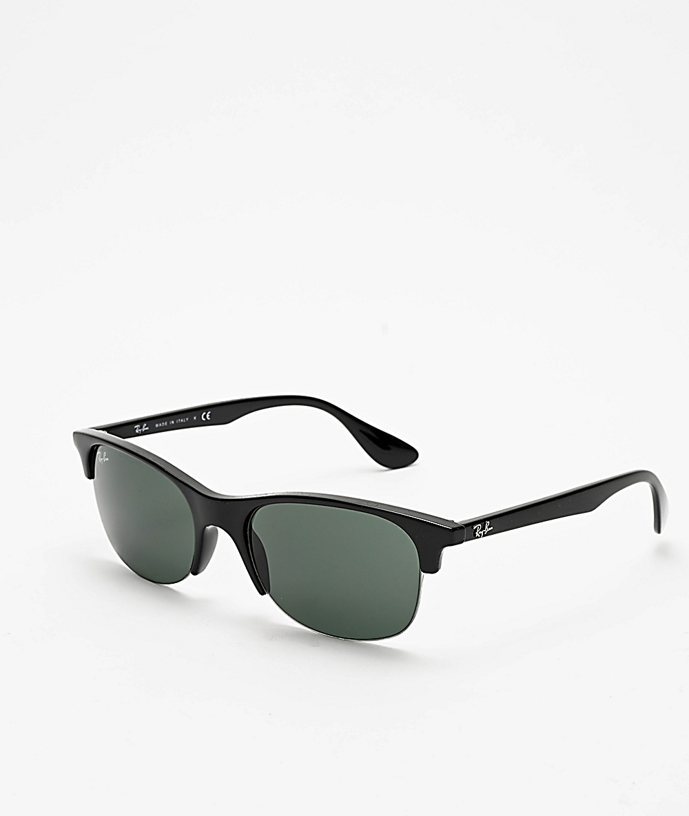 7f6107234 Ray-Ban Clubmaster Junior Black & Green Sunglasses | Zumiez