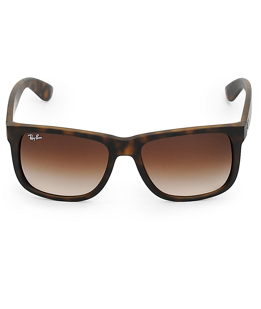 0cfb787d4 Ray-Ban Justin Havana Tortoise Shell Sunglasses | Zumiez