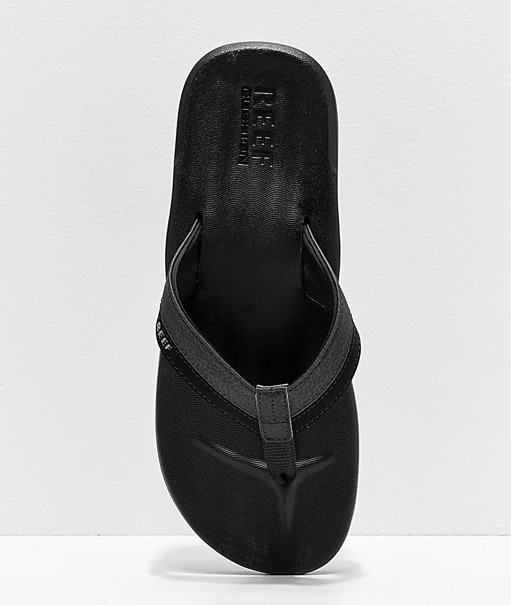 Reef Contoured Cushion Black On Black Sandals