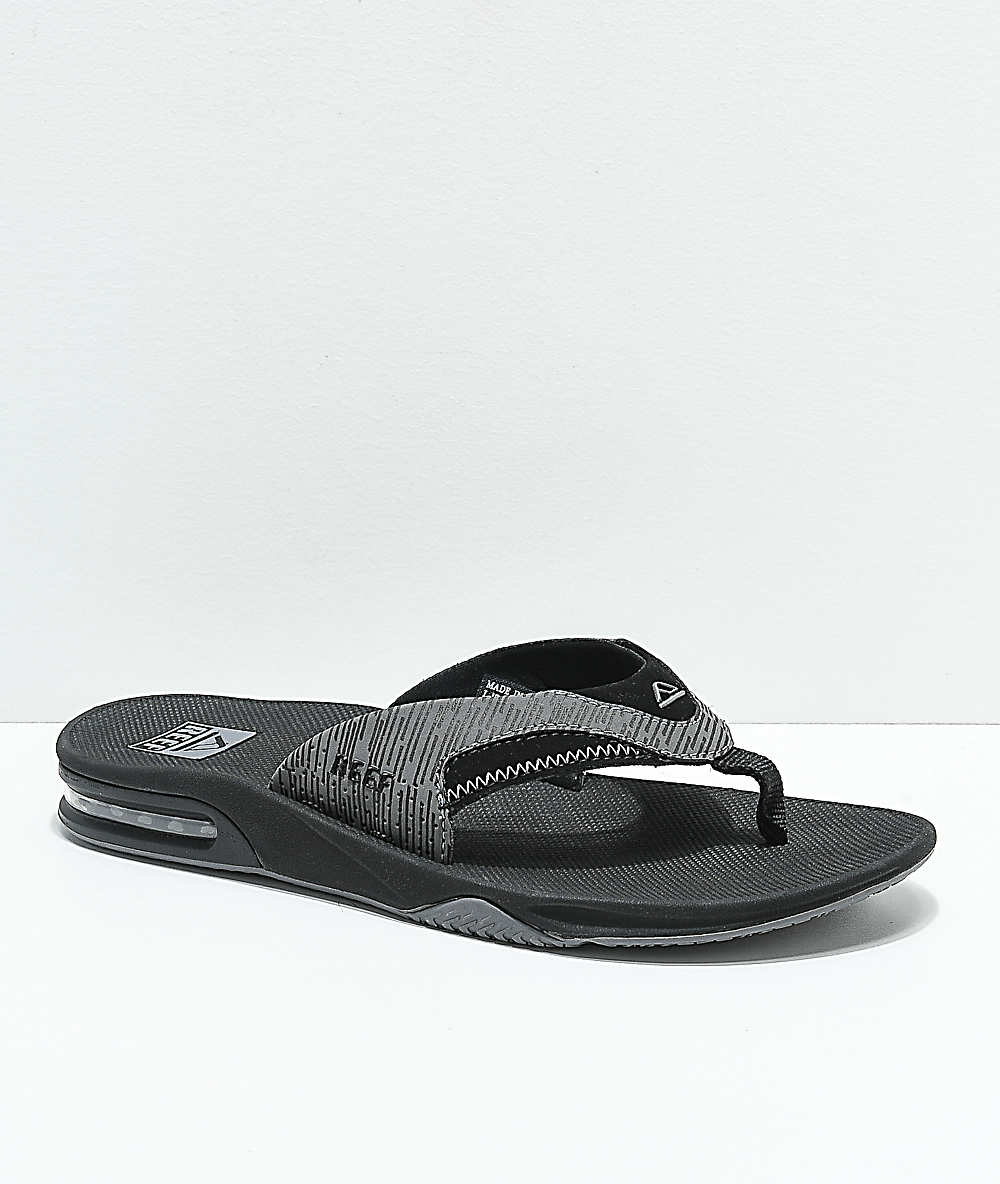 buy save up to 60% buy best Reef Fanning Black & Grey Sandals