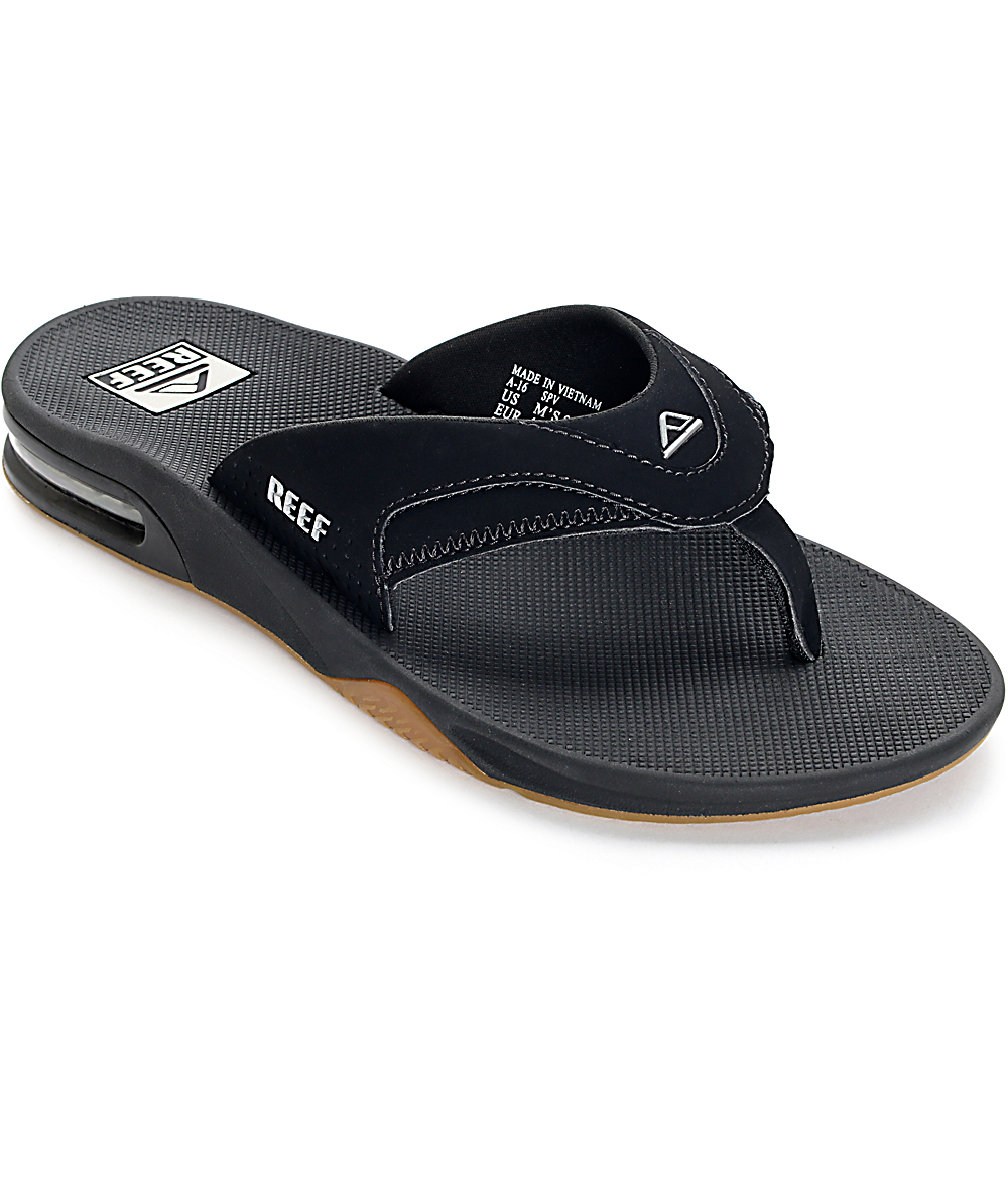 low price sale cheap for sale new collection Reef Fanning Black & Silver Sandals | Zumiez