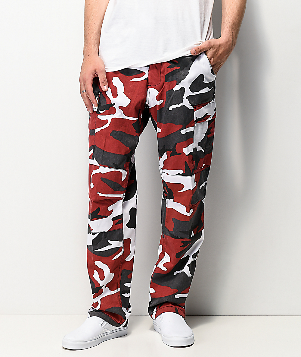 free shipping top quality discount up to 60% Rothco BDU Tactical Red Camo Cargo Pants