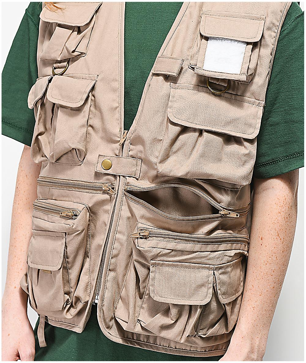 91d20d6c1 Rothco Khaki Utility Vest | Zumiez