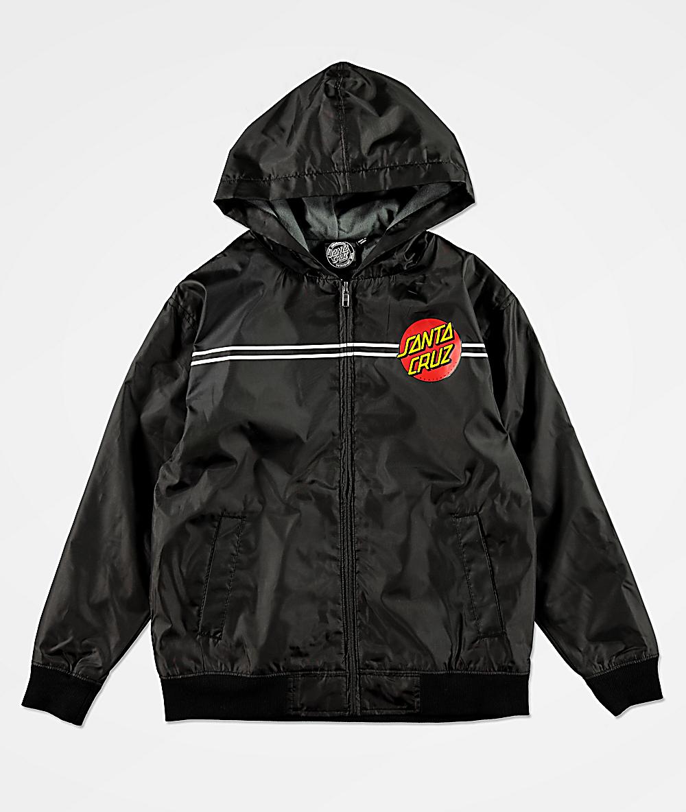 Santa Cruz Black Classic Dot Kids Jacket