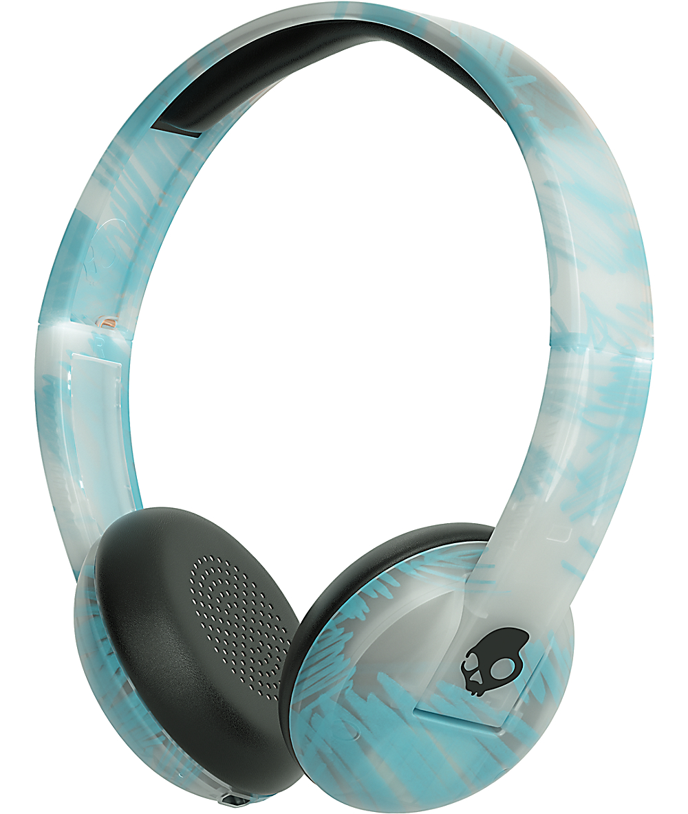 435e94eccc0 Skullcandy Uproar Wireless Clear & Scribble Headphones | Zumiez