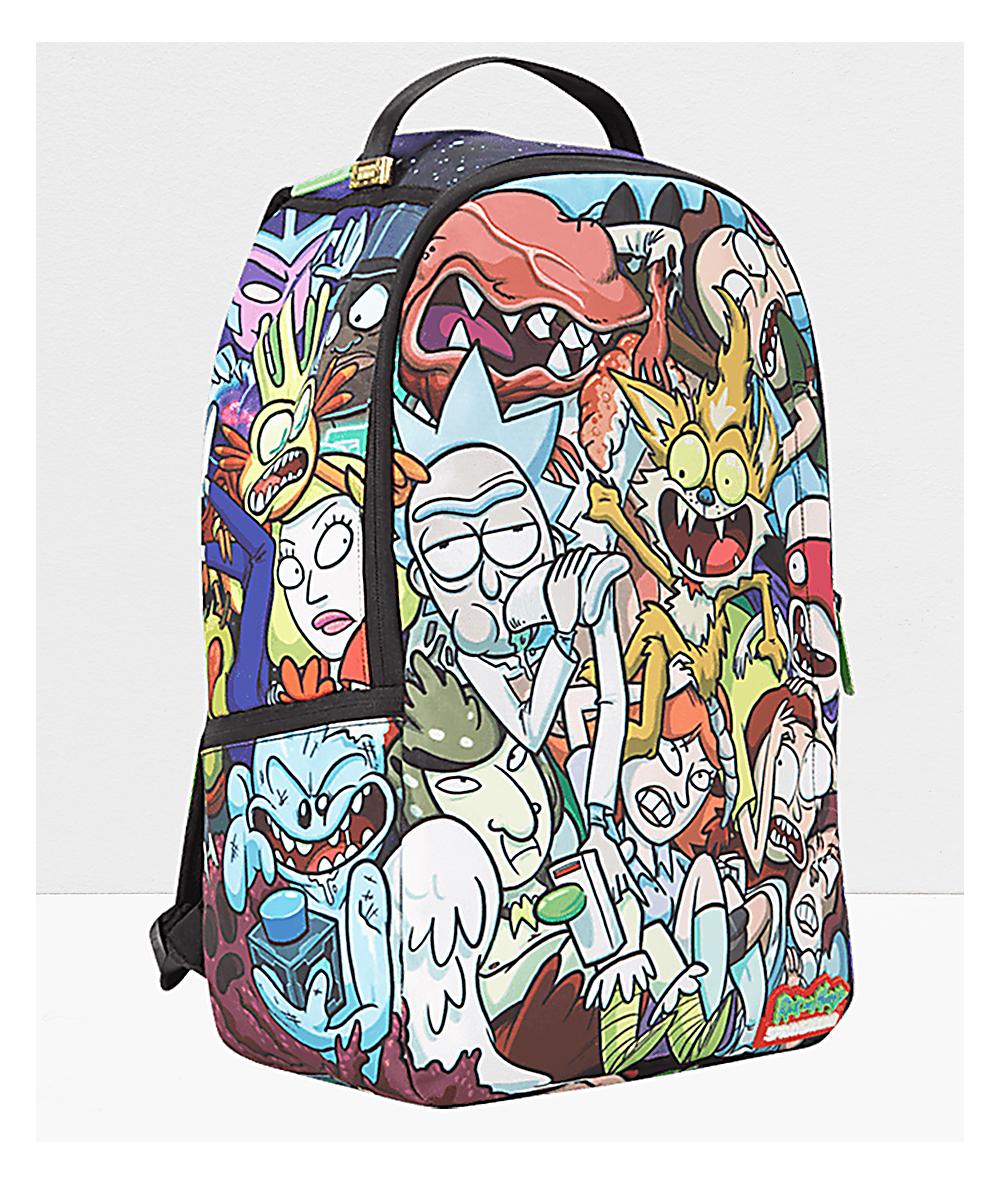 Sprayground X Rick And Morty Crammed Backpack | Zumiez