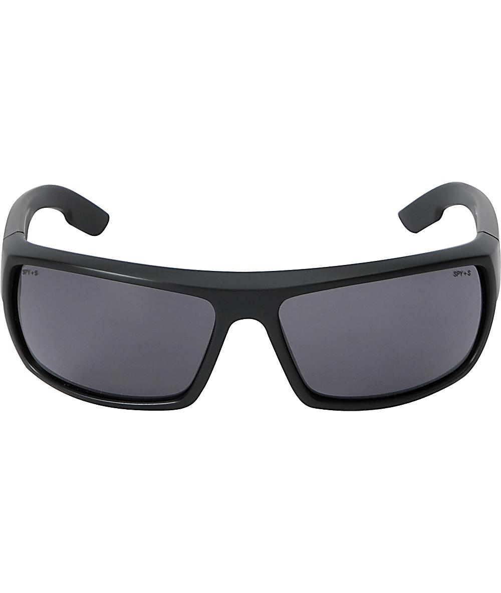 0cc3902d67ed Spy Bounty Matte Black & Grey Sunglasses | Zumiez