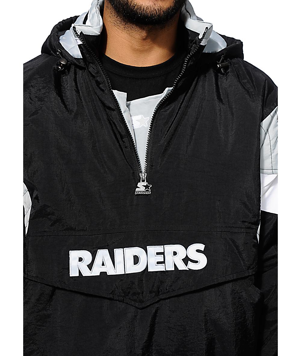 official photos 40392 5b5d0 Starter Oakland Raiders Pullover Jacket
