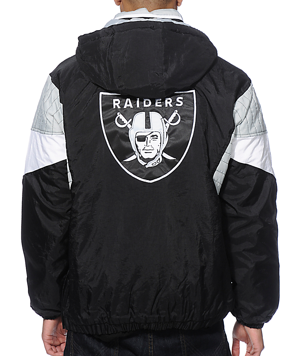 official photos 950ae cb8ac Starter Oakland Raiders Pullover Jacket