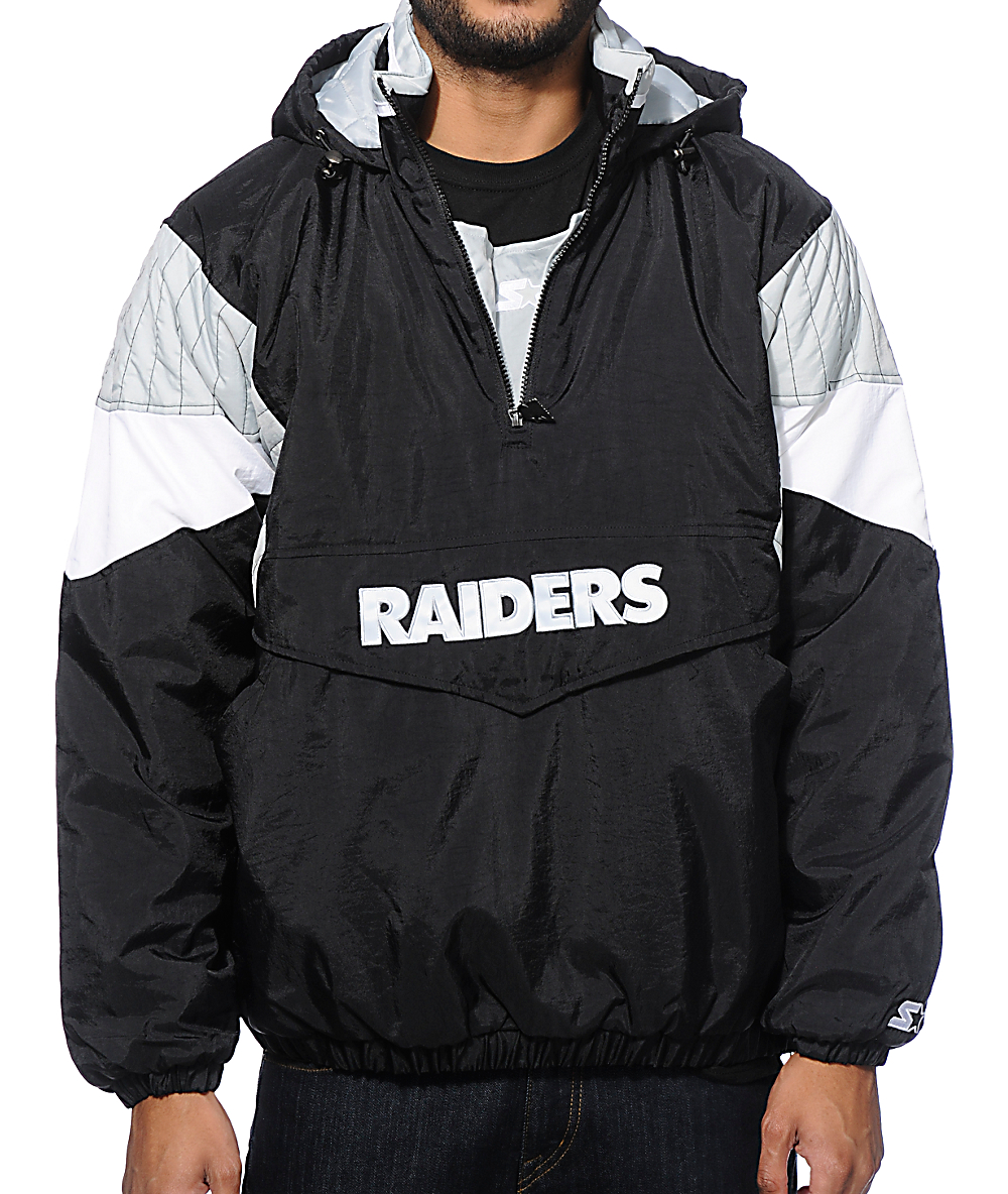 official photos 79dac 9aa84 Starter Oakland Raiders Pullover Jacket