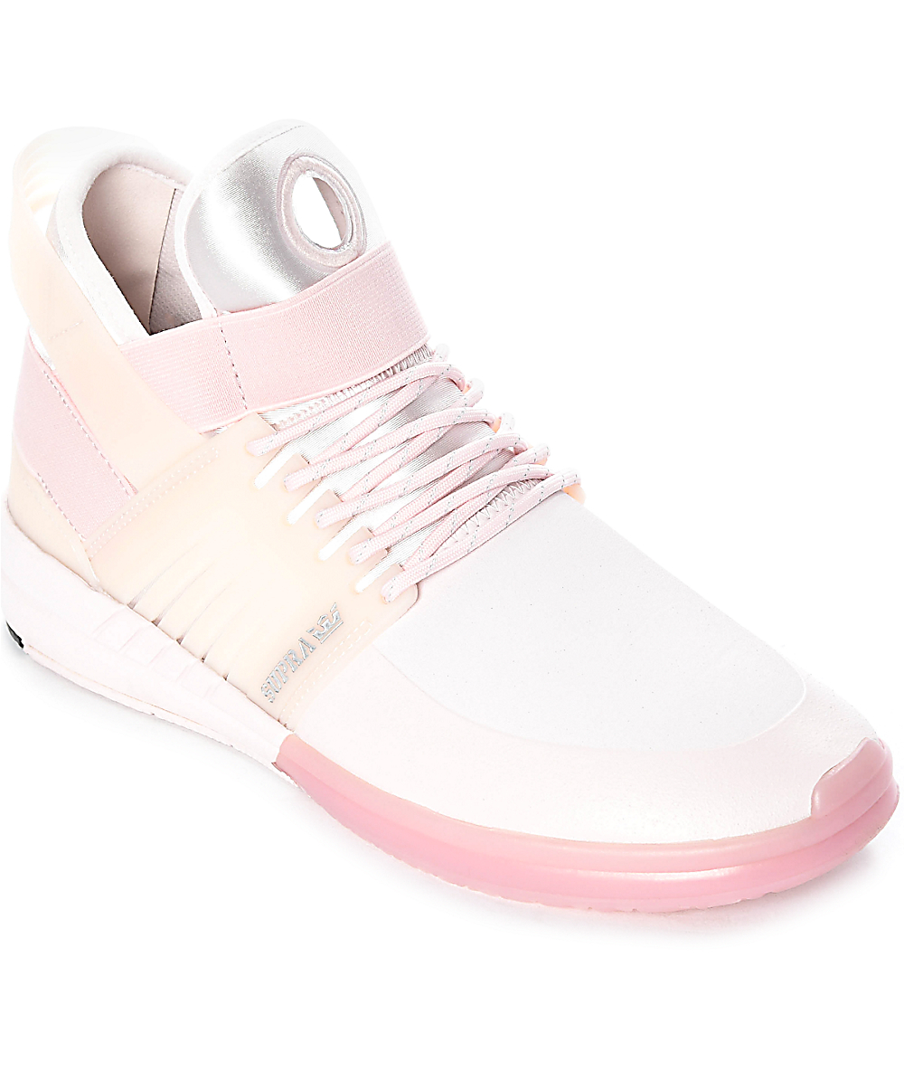 reputable site 265df d2b30 Supra Skytop V Light Pink Skate Shoes   Zumiez