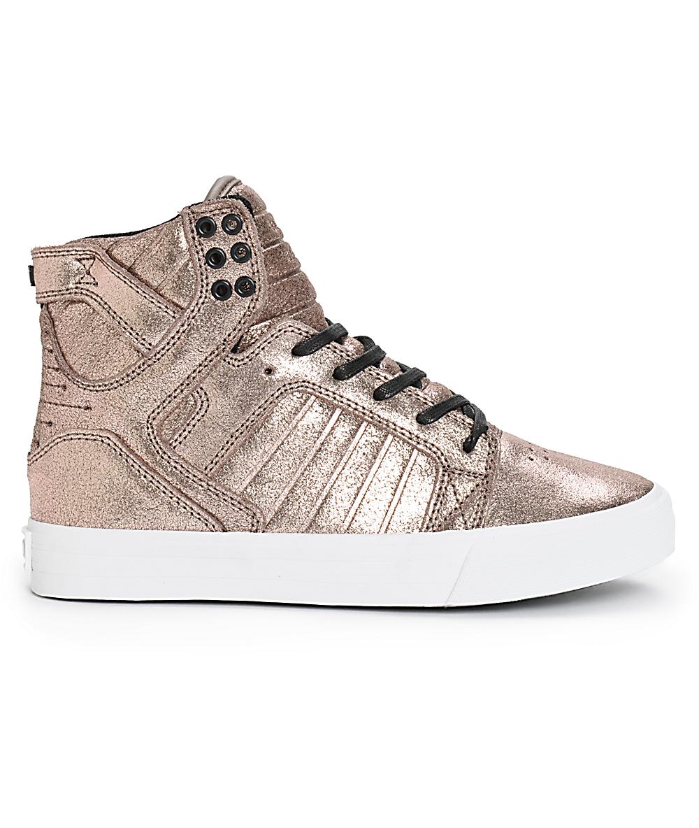el más nuevo a4fee e0a38 Supra Skytop zapatos color oro rosa metálico (mujer)